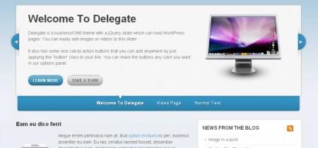 Delegate WordPress Theme